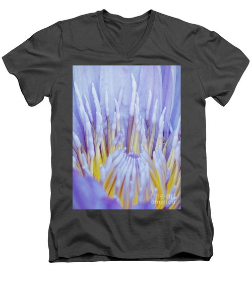 Water Lily Nature Fingers Men's V-Neck T-Shirt