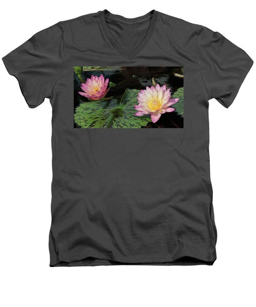 Water Lily Pair Men's V-Neck T-Shirt