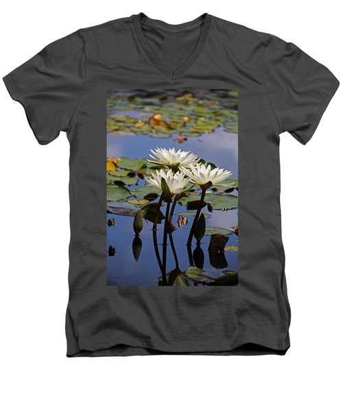 Water Lily Reflections Men's V-Neck T-Shirt