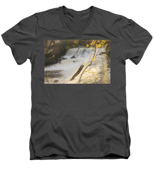 Water Over The Dam. Men's V-Neck T-Shirt