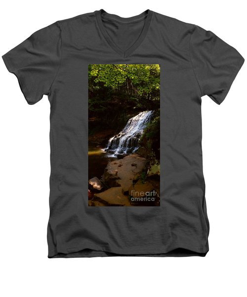 Water Path Men's V-Neck T-Shirt by Raymond Earley