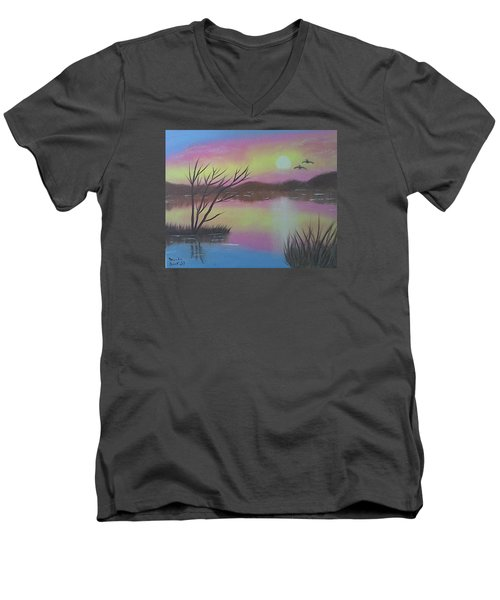 Water Reflections Men's V-Neck T-Shirt by Brenda Bonfield