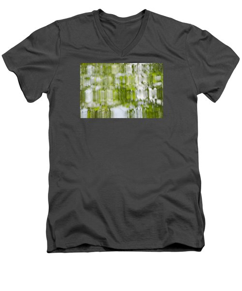 Men's V-Neck T-Shirt featuring the photograph Water Reflections by Wanda Krack