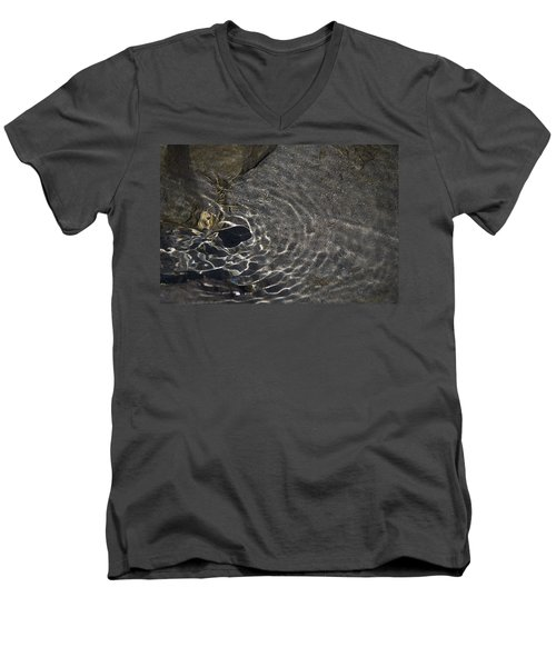 Men's V-Neck T-Shirt featuring the photograph Black Hole by Yulia Kazansky