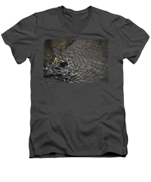 Men's V-Neck T-Shirt featuring the photograph Black Hole by Yulia Kazansky