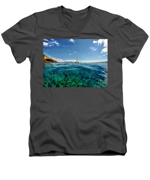 Water Shot Men's V-Neck T-Shirt