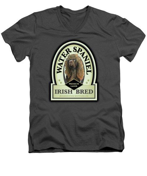 Water Spaniel Irish Bred Premium Lager Men's V-Neck T-Shirt
