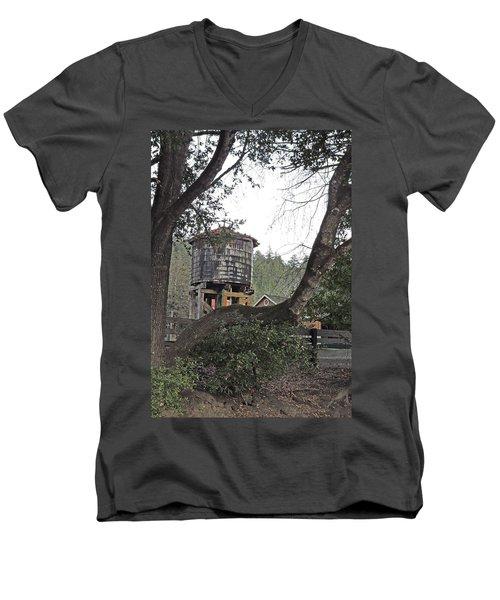 Water Tower @ Roaring Camp Men's V-Neck T-Shirt