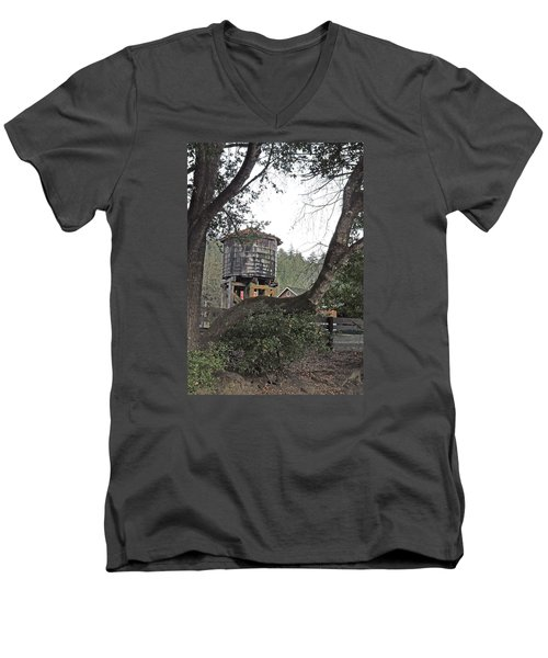 Water Tower @ Roaring Camp Men's V-Neck T-Shirt