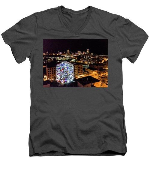 Water Tower Skyline Men's V-Neck T-Shirt