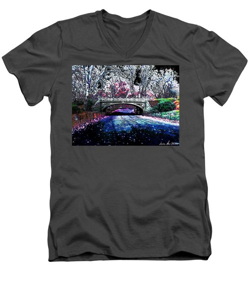 Water Under The Bridge Men's V-Neck T-Shirt by Iowan Stone-Flowers