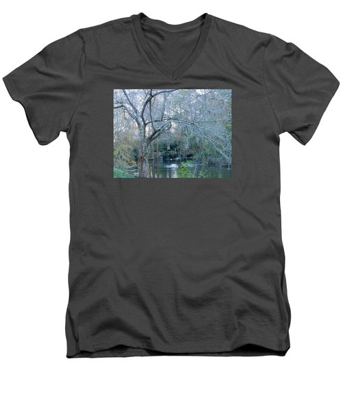 Men's V-Neck T-Shirt featuring the photograph Water Wheel by Kay Gilley