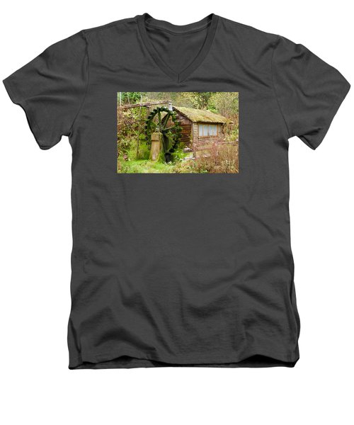 Water Wheel Men's V-Neck T-Shirt by Sean Griffin