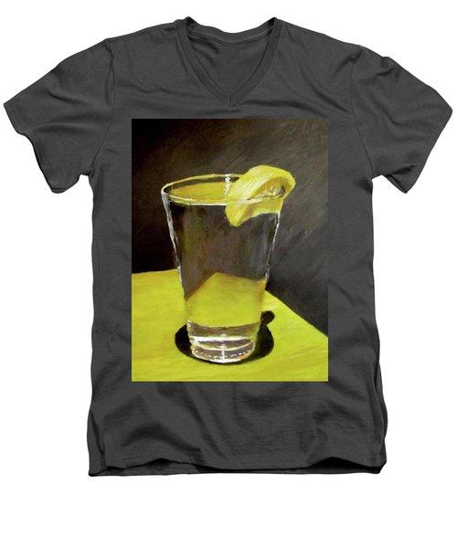 Water With A Lemon...please Men's V-Neck T-Shirt