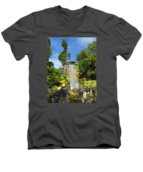 Men's V-Neck T-Shirt featuring the photograph Water Works by Barbara Middleton