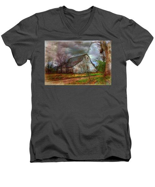 Watercolor Barn 2 Men's V-Neck T-Shirt
