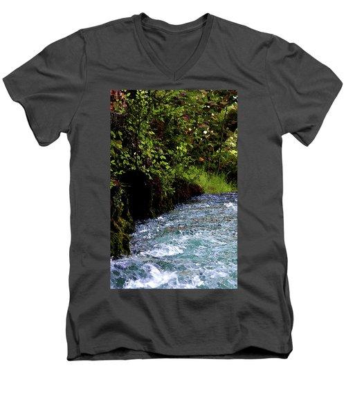 Watercolor Big Springs Missouri 2125 W_2 Men's V-Neck T-Shirt