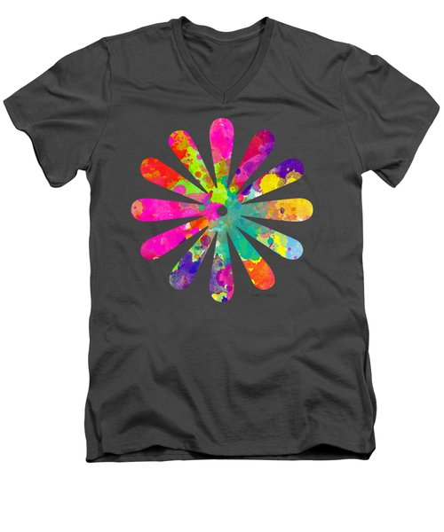 Watercolor Flower 2 - Tee Shirt Design Men's V-Neck T-Shirt by Debbie Portwood
