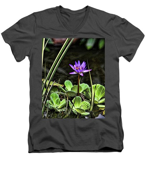 Watercolor Lily Men's V-Neck T-Shirt
