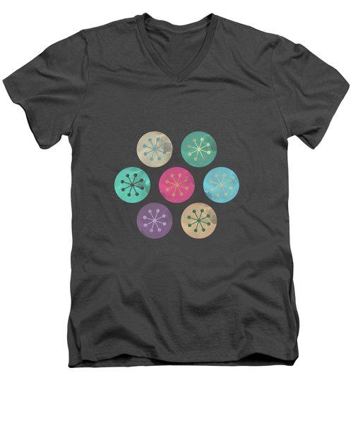 Watercolor Lovely Pattern Men's V-Neck T-Shirt