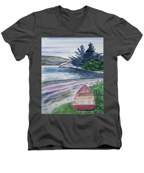 Watercolor - New Zealand Harbor Men's V-Neck T-Shirt