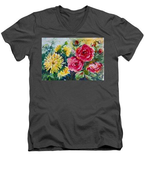 Watercolor Series No. 212 Men's V-Neck T-Shirt