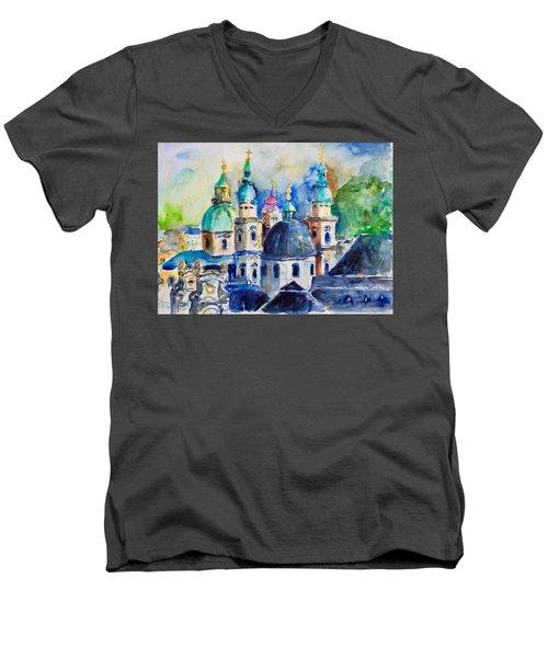 Watercolor Series No. 247 Men's V-Neck T-Shirt
