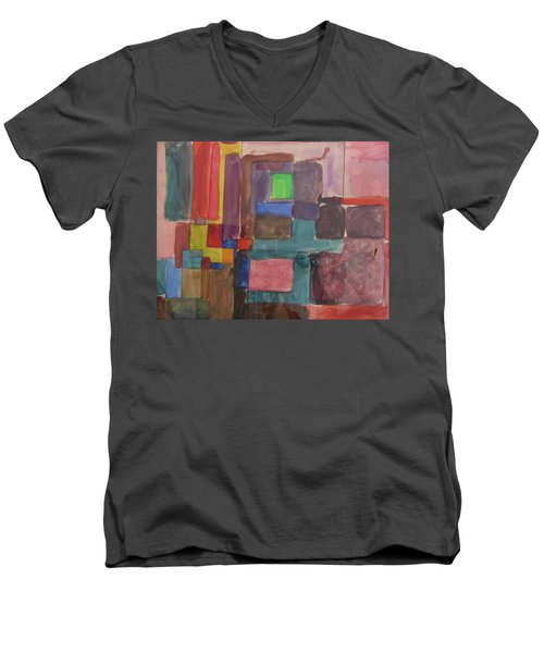 Watercolor Shapes Men's V-Neck T-Shirt