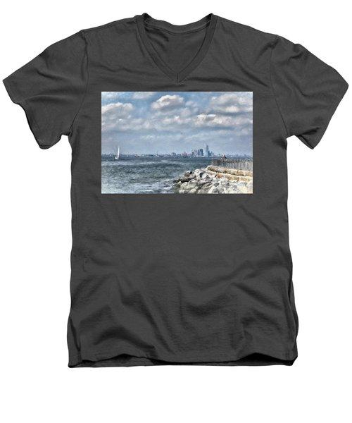Watercolor Views Men's V-Neck T-Shirt
