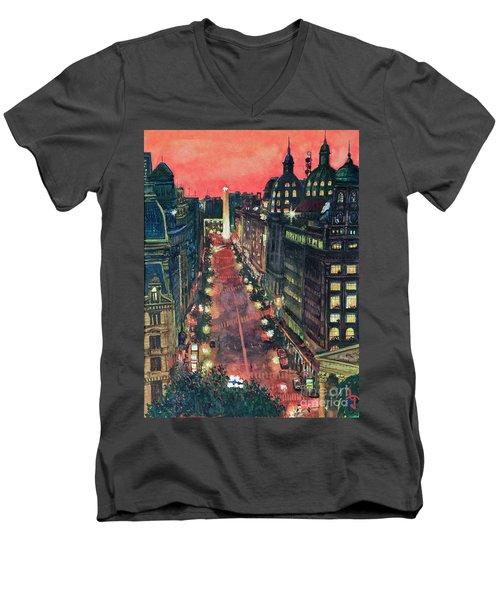 Watercolors-01 Men's V-Neck T-Shirt by Bernardo Galmarini