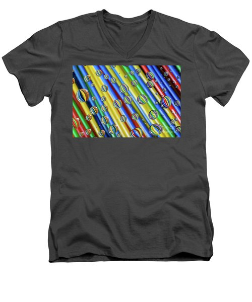 waterDroplets02 Men's V-Neck T-Shirt by Brian Roscorla