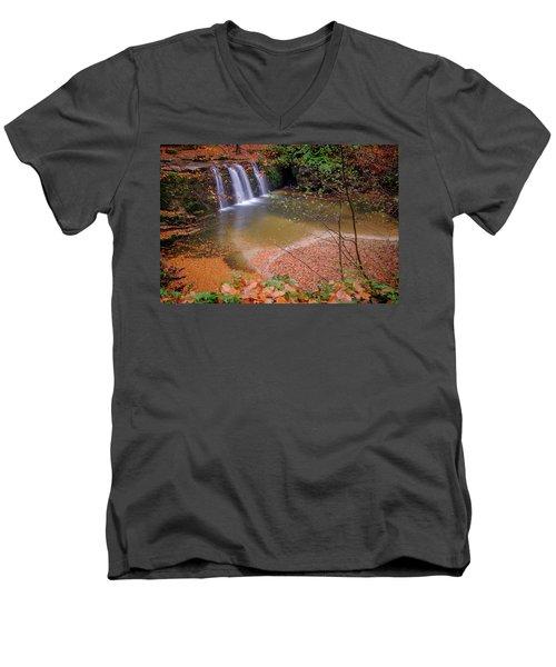 Waterfall-1 Men's V-Neck T-Shirt