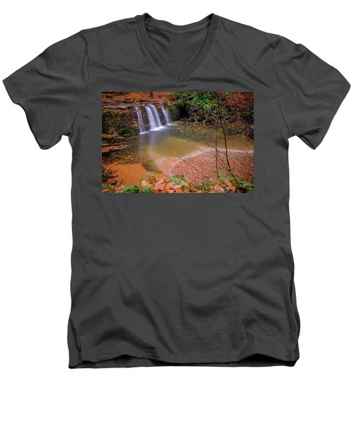 Waterfall-1 Men's V-Neck T-Shirt