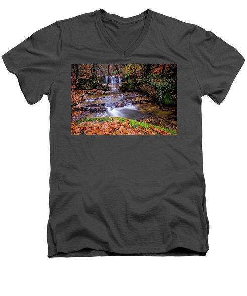 Waterfall-2 Men's V-Neck T-Shirt
