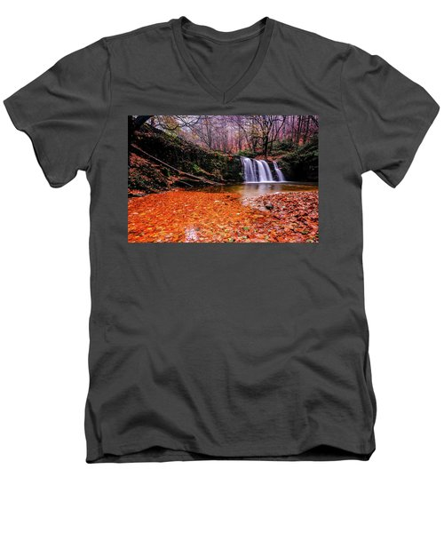 Waterfall-7 Men's V-Neck T-Shirt