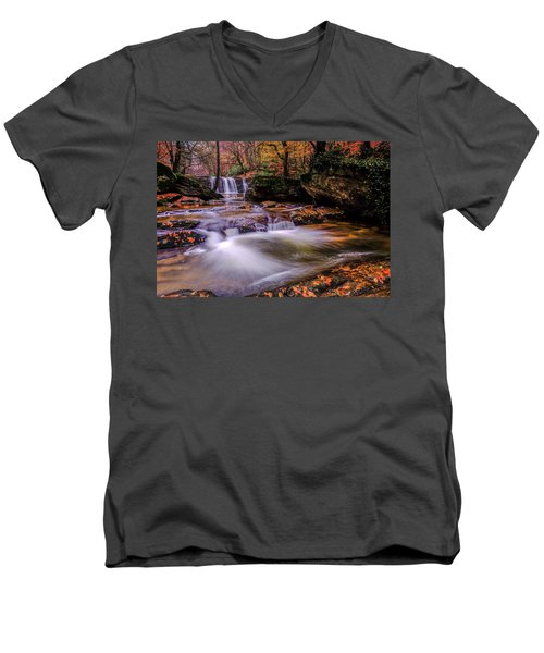 Waterfall-9 Men's V-Neck T-Shirt