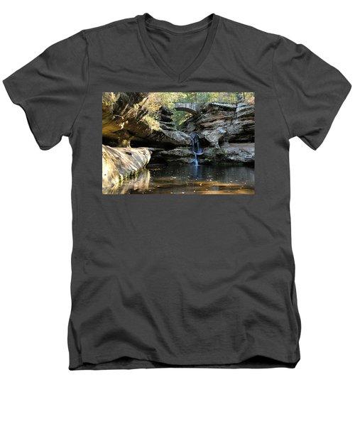 Waterfall At Old Man Cave Men's V-Neck T-Shirt