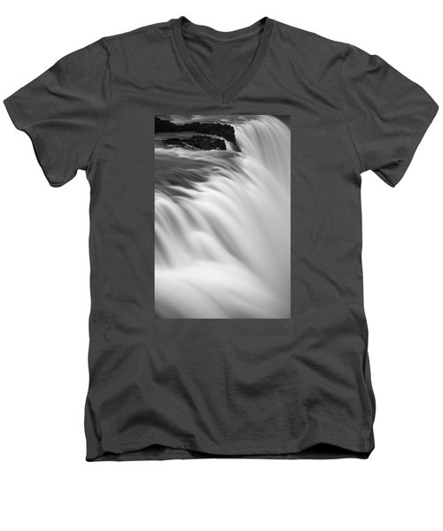 Waterfall Men's V-Neck T-Shirt by Chris McKenna