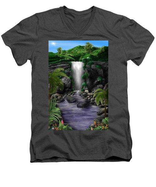Waterfall Creek Men's V-Neck T-Shirt