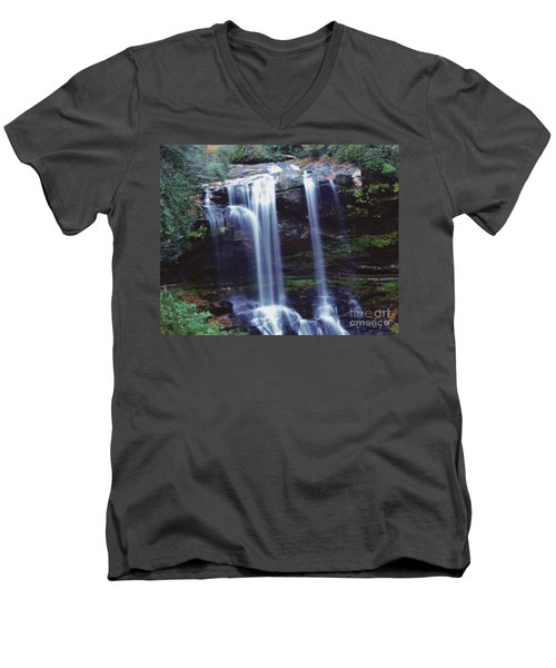 Men's V-Neck T-Shirt featuring the photograph Waterfall  by Debra Crank