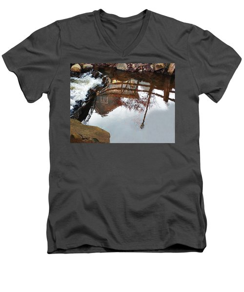 Waterfall From Calm Waters Men's V-Neck T-Shirt