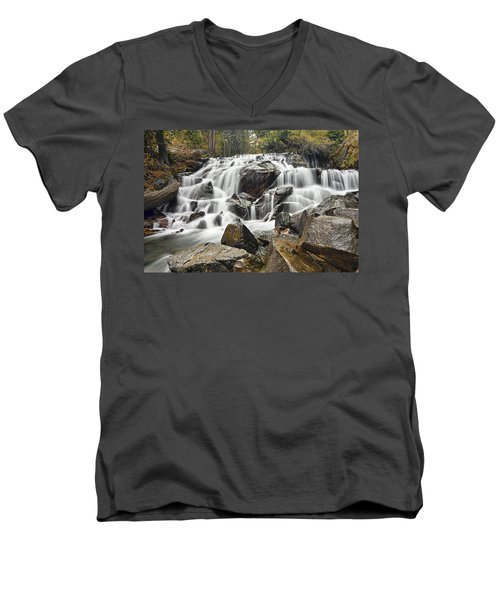Waterfall In Lee Vining Canyon Men's V-Neck T-Shirt