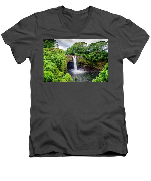 Waterfall Into The Valley Men's V-Neck T-Shirt