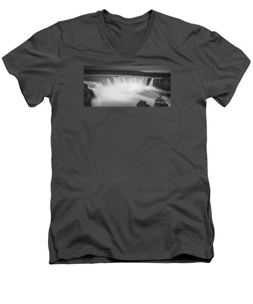 Waterfall Of The Gods Iceland Men's V-Neck T-Shirt