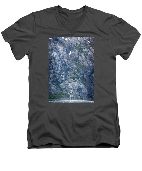 Waterfall Panorama Men's V-Neck T-Shirt