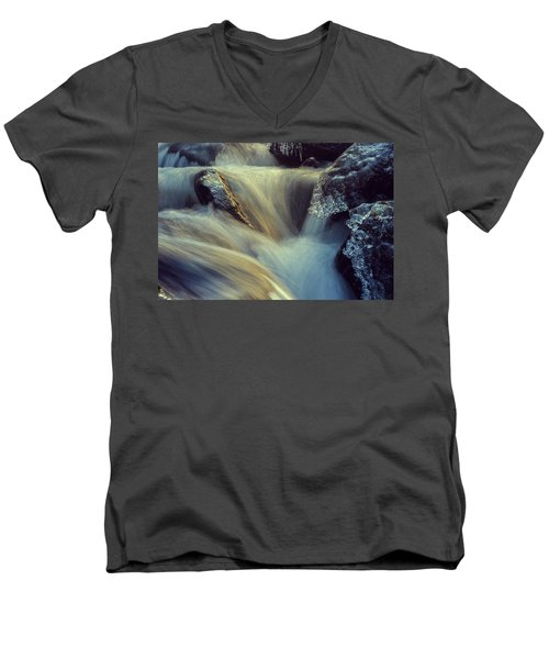 Waterfall Men's V-Neck T-Shirt by Scott Meyer