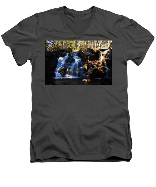 Waterfall, Whitewall Brook Men's V-Neck T-Shirt