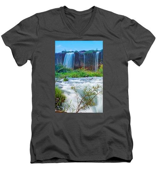 Waterfalls Men's V-Neck T-Shirt