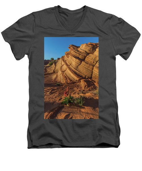Waterhole Canyon Evening Solitude Men's V-Neck T-Shirt