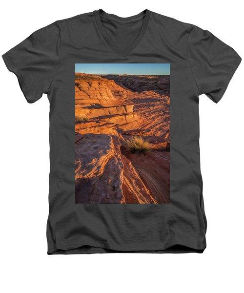 Waterhole Canyon Sunset Vista Men's V-Neck T-Shirt